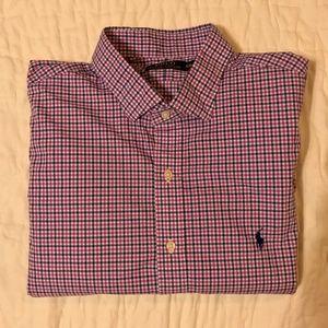 Polo Ralph Lauren Men's Shirt - Blue/Pink - XXL